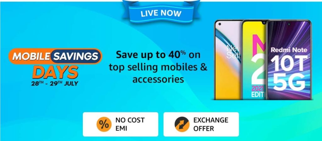 Amazon offer on mobile phone